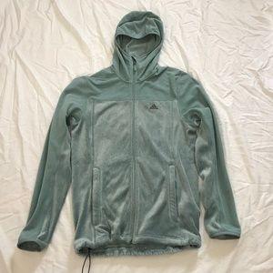 Adidas Outdoor green Fleece Full Zip Hoodie jacket